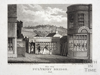 View from Pulteney Bridge, Bath 1822