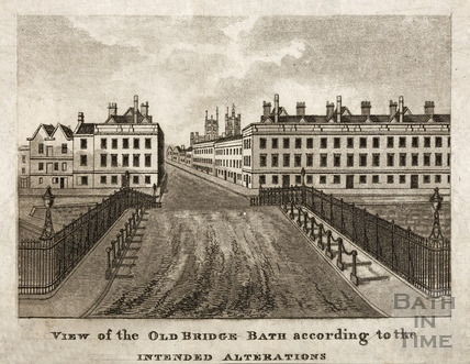 View of the Old Bridge according to the Intended Alterations, Bath c.1823