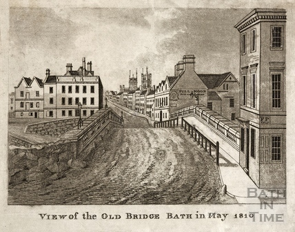 View of the Old Bridge in May 1810, Bath c.1823