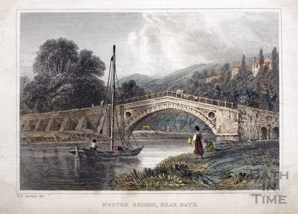 Weston (Newton) Bridge, near Bath 1830