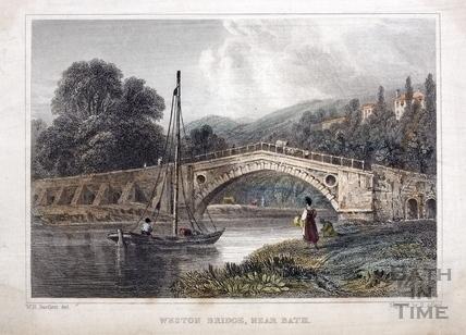 Weston (Newton) Bridge, near Bath 1830