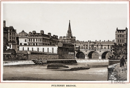 Pulteney Bridge and weir, Bath c.1880
