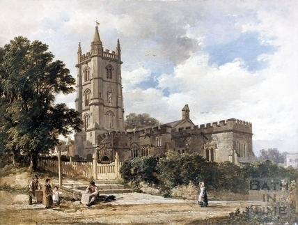 St. John the Baptist Church, Northend, Batheaston c.1800