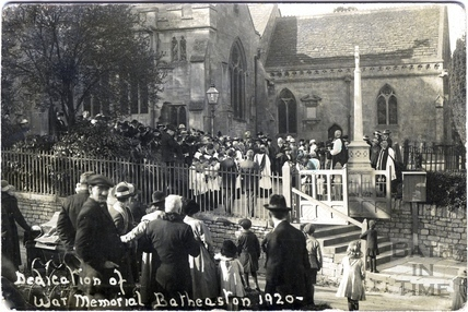 Dedication of War Memorial, Northend, Batheaston 1920