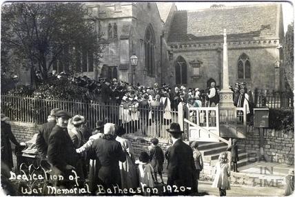 Dedication of War Memorial, Batheaston 1920