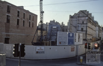 Rebuilding of the old Plummer Roddis site, New Bond Street, Bath 1980