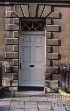 New doorway, 1, Norfolk Crescent, Bath 1975