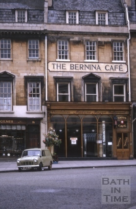 The Bernina Café, 17, Old Bond Street, Bath 1966