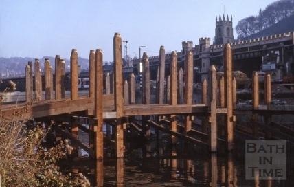 Piles for Churchill Bridge, Bath 1964