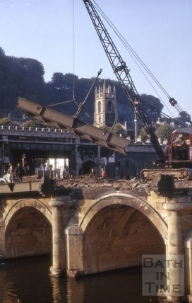 Old Bridge demolition 1964