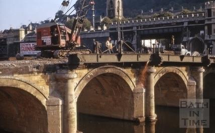 Demolition of the Old Bridge, Bath 1964