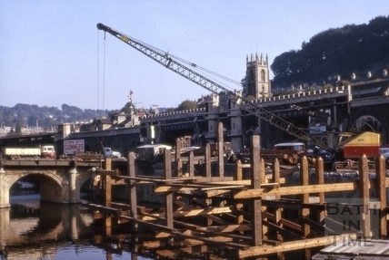 Piles for Churchill Bridge, Bath 1964