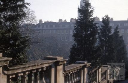 Stone balustrade, Parade Gardens, Bath 1969
