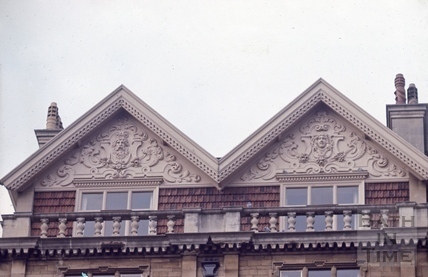Orange Grove Empire Hotel gable detail 1966