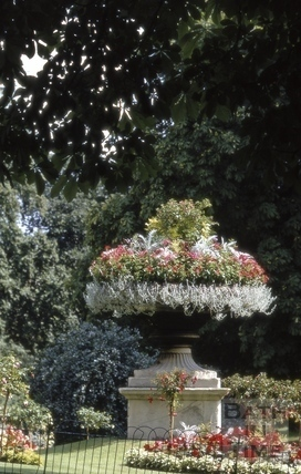 Ornamental vase, Royal Victoria Park, Bath 1970