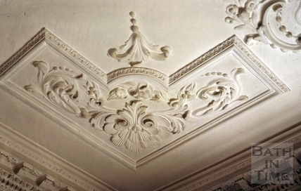 First floor ceiling, Linley House, 1, Pierrepont Place, Bath 1969