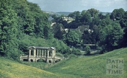 Palladian Bridge, Prior Park, Bath 1958