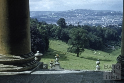 View from terrace, Prior Park, Bath 1956