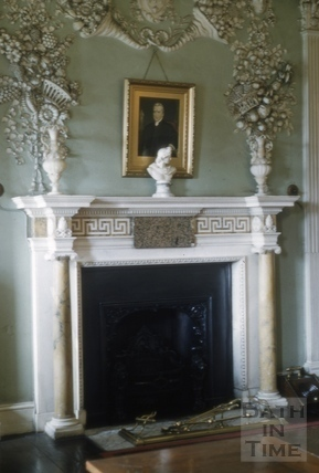 Fireplace, Prior Park, Bath 1956