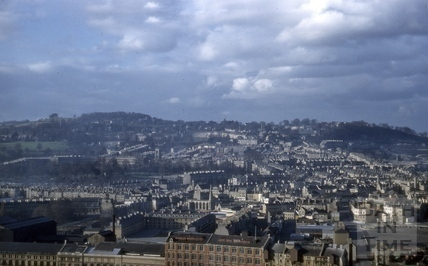 View of Bath from Beechen Cliff 1956
