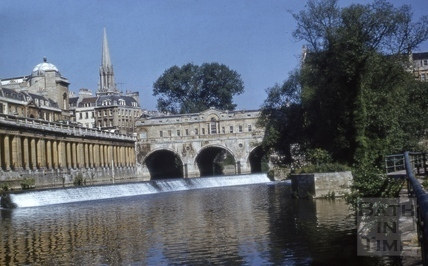Pulteney Bridge from tow-path 1958?