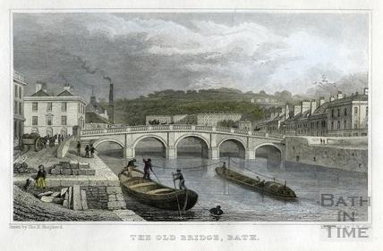 The Old Bridge, Bath 1829