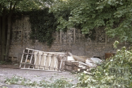 Ruins of old mill, Pulteney Weir, Bath 1969