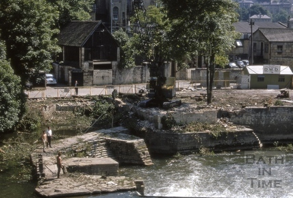 Pulteney Weir clearing 1969