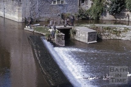 Old mill race, Pulteney Weir, Bath 1966