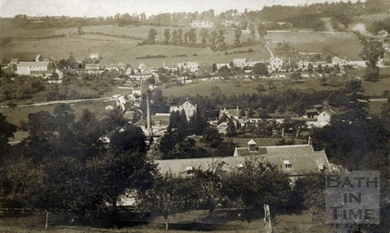 View of Freemans Mill and Monkton Combe Village c.1904