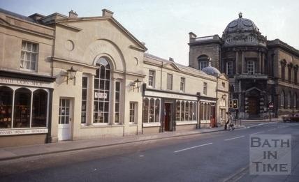 South side of Pulteney Bridge, Bath 1977