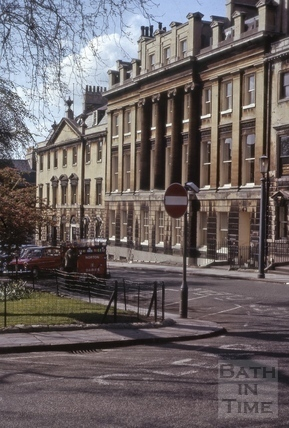 West side of Queen Square, Bath 1965