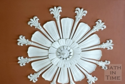 Ceiling rose, 18, Queen Square, Bath 1964
