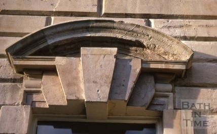 Keystone of window, 18a, Queen Square, Bath 1969