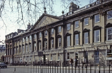 North side of Queen Square, Bath 1981