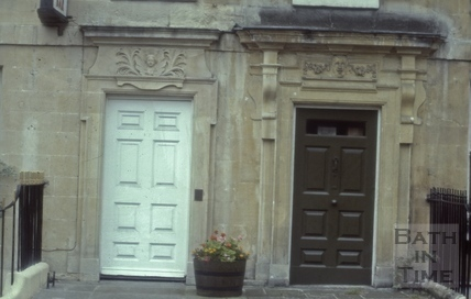Queen Square paired doorway cleaned on south side 1985