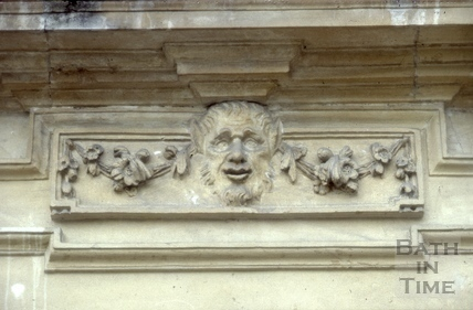 Doorway detail, 12, Queen Square, Bath 1985
