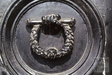 Doorknocker, Raby Place, Bathwick, Bath 1974