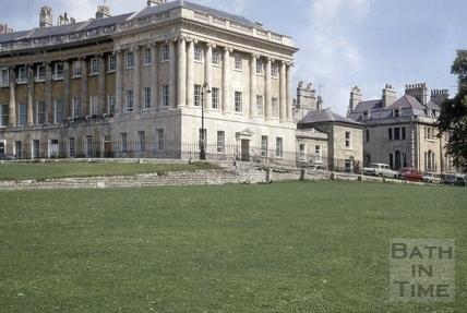Royal Crescent No 1 restored showing west side 1974