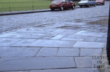 Stone paving, Royal Crescent, Bath 1985