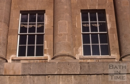 Restored windows of No.1 Royal Crescent 1972