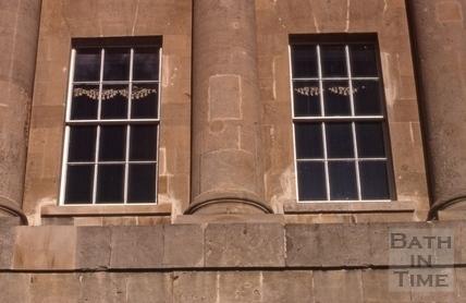 Restored windows of 1, Royal Crescent, Bath 1972