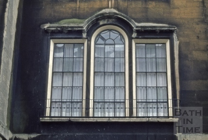 Detail of window with original glass, 38, Rivers Street, Bath 1973