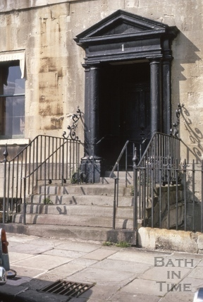 No.1 Royal Crescent: doorway before restoration 1969