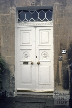 Royal Crescent No 25 doorway 1973