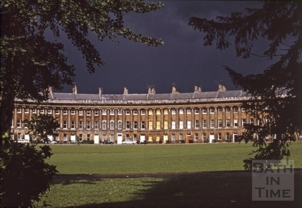 Royal Crescent yellow blinds 1971