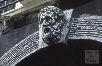 Rivers Street No 15, detail of keystone 1973