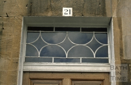 Royal Crescent No 21 fanlight 1973