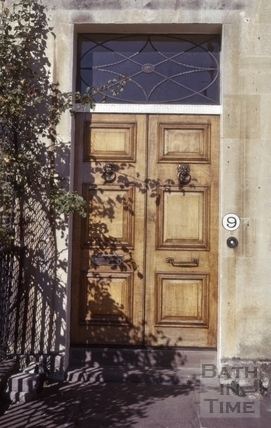 Royal Crescent No 9 doorway 1974