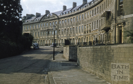 Somerset Place from east 1955